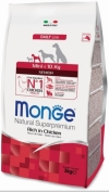 Monge Dog Mini Senior Монж корм для пожилых собак мелких пород, Monge