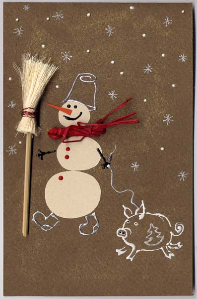 Как сделать открытки на новый год своими